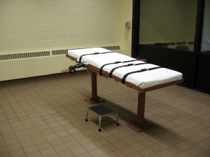 Ohio execution chamber where Romell Broom was due to be executed.