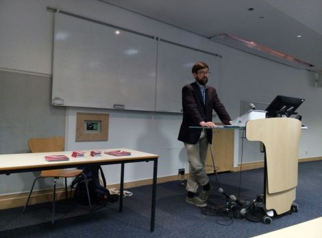 Sam Hawke from Liberty speaking at BPP's Holborn campus